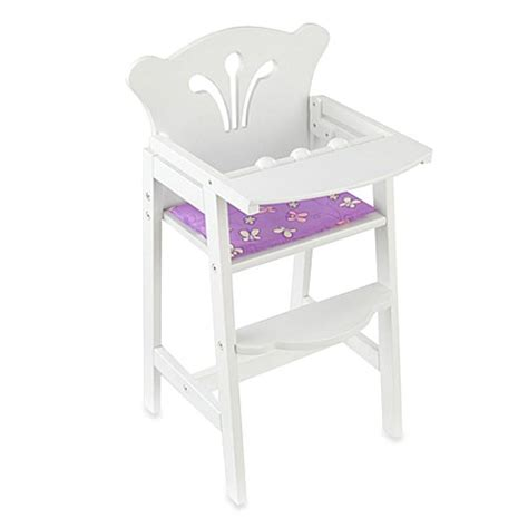 kidkraft bow wooden doll high chair kidkraft 174 lil doll high chair buybuy baby
