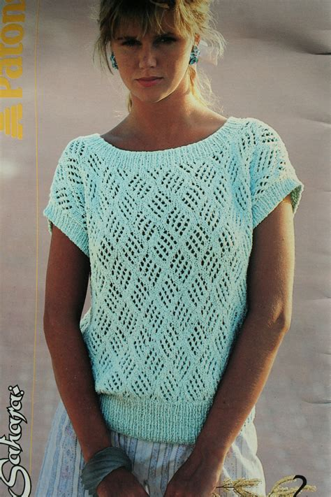 knitting designs sweaters for sweater knitting patterns summer vintage cotton by