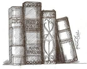 draw books shelf