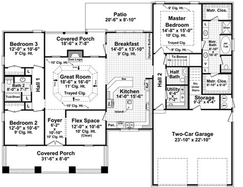 2000 sq ft bungalow floor plans characteristics and features of bungalow house plan