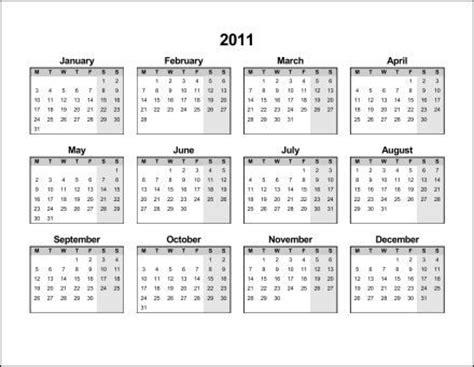 2011 calendar template image gallery 2011 monthly calendar