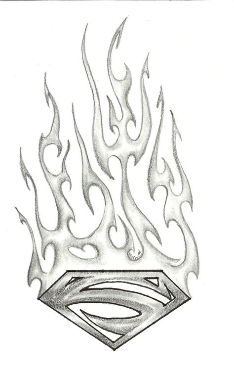 flaming tattoo designs superman 1 by child of on deviantart