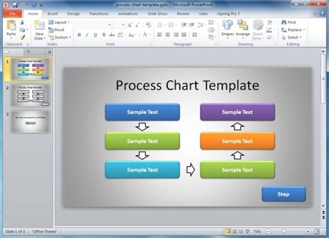 process flow template powerpoint free how to make a flowchart in powerpoint
