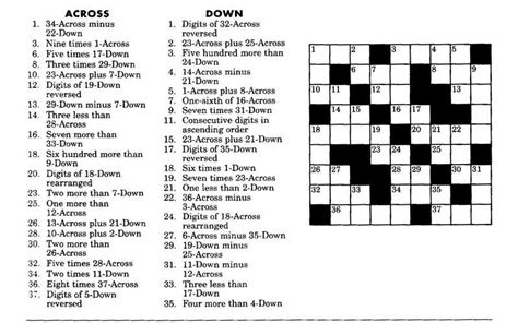 easy crossword puzzle questions and answers maths crossword puzzles with answers for class 9 cbse