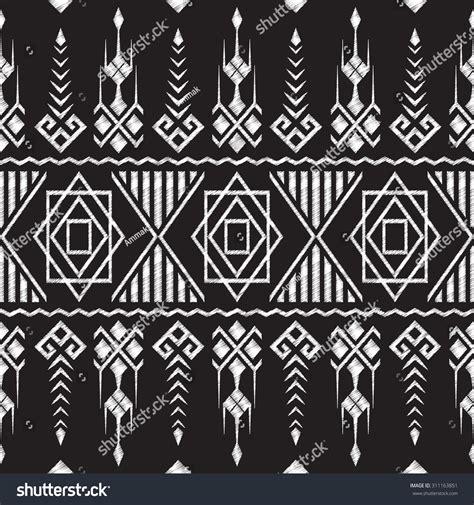 doodle tribal chalkboard doodle tribal aztec seamless pattern stock