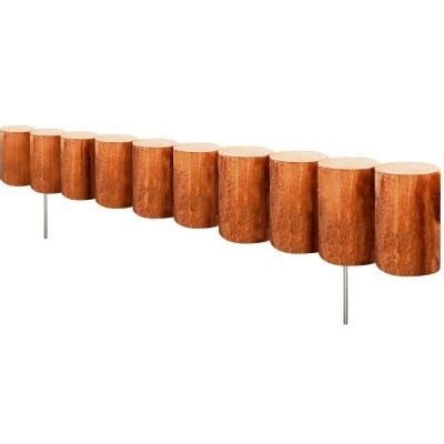 fence sections home depot greenes fence 30 in wood log edging 6 pack rc43m 6c