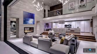 living room with a mezzanine trendir