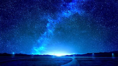 night sky stars landscape