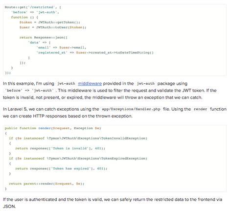 tutorial laravel angularjs json web token tutorial an exle in laravel and