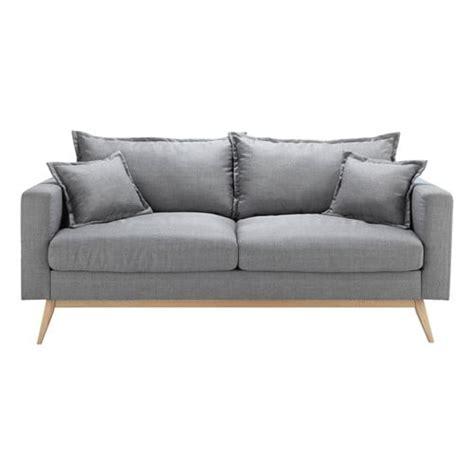 divano grigio divano grigio chiaro in tessuto 3 posti duke maisons du