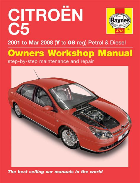 what is the best auto repair manual 2002 toyota sienna spare parts catalogs haynes manual 4745 citroen c5 petrol diesel 01 to 08