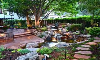 small backyard ponds low maintenance back yard landscaping ideas back yard hill landscape
