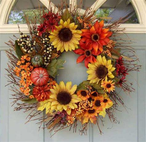 ideas for creating a beautiful fall wreath on the door