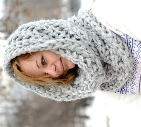 loom knit cowl neck scarf chunky scarf knitted cowl infinity scarf neck warmer