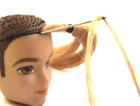 fashion doll reroot tutorial dolly care reroot doll hair knot method