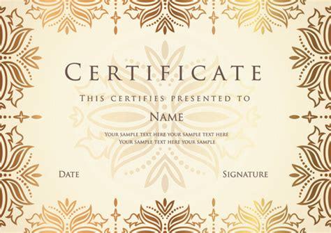 certificate design sle photoshop best certificate photoshop design free vector download