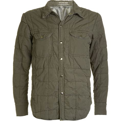 Quilted Shirt Jacket by Save Khaki Quilted Shirt Jacket In Green Olive Lyst