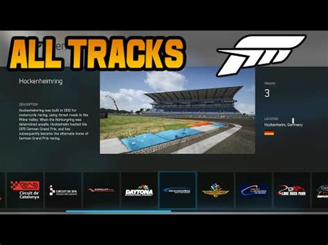 forza 6 all tracks, layouts & configurations youtube
