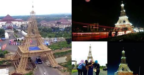 Souvenir Prancis Pajangan Replika Bentuk Menara Eiffel replika menara eiffel dari bambu primadona objek selfie di tasikmalaya wisata jawa barat