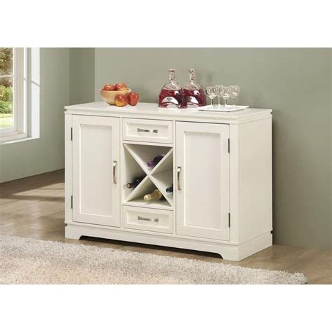 white buffet pearl white buffet with wine bottle storage