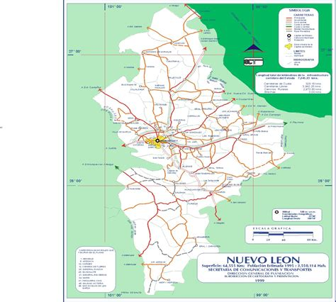 Nuevo Mexico Map by Nuevo Leon Mexico Map Pictures To Pin On Pinterest
