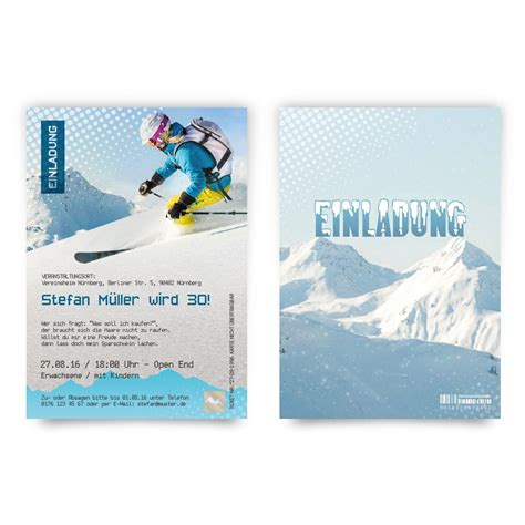 Snowboard Aufkleber Selber Machen by Einladungskarten Als Skipass H 252 Ttenzauber