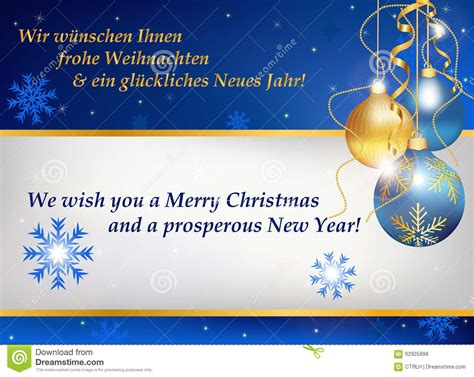 new year business ecard new year greeting card in german and stock vector