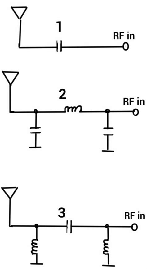 series capacitor matching network antenna matching circuit