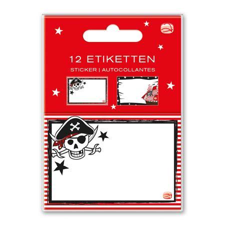 Aufkleber Heft by Schulheft Aufkleber Pirat 12er Set