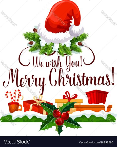 merry christmas happy holiday design royalty  vector