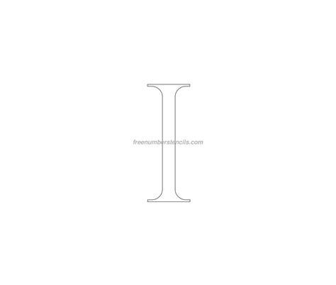 printable greek numbers free roman greek 1 number stencil freenumberstencils com