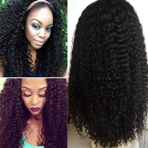 kinky curly human hair full lace front wigs cara lace front human hair wigs brazilian kinky curly full