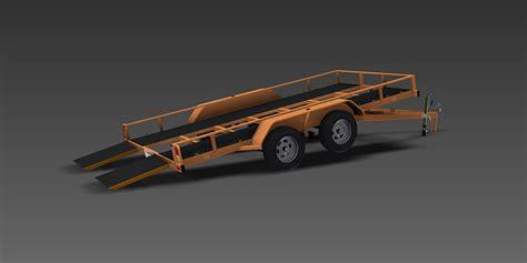 tilt boat trailer designs tipping archives trailer plans