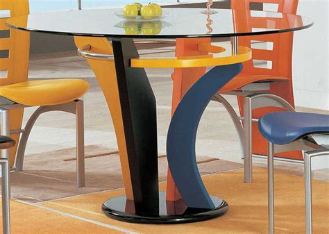 colorful dining table global furniture usa 5443 dining set multi color gf