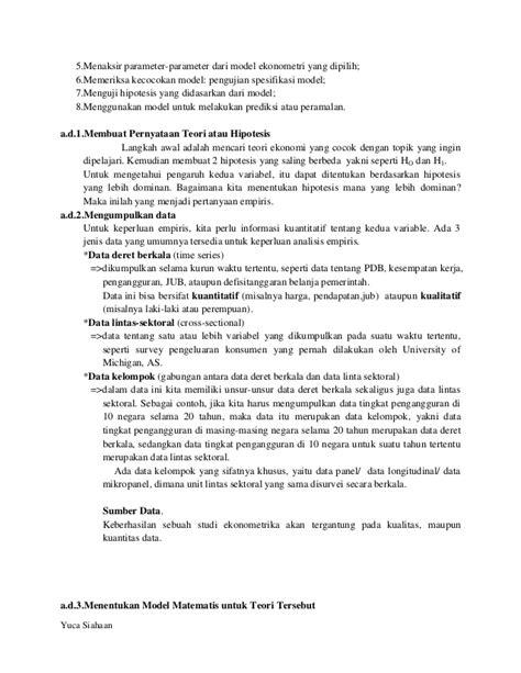 Dasar Dasar Ekonometrika E5 1 hakikat dan ruang lingkup ekonometrika