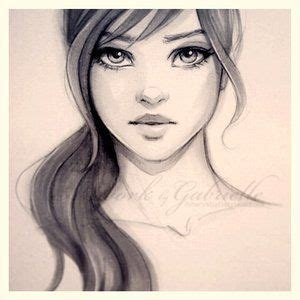 pretty girl face drawing drawing of a girl with long wavy hair drawings