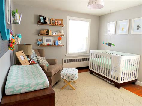 Diy Bedroom Organization Ideas transitional gray mint and navy baby boy nursery