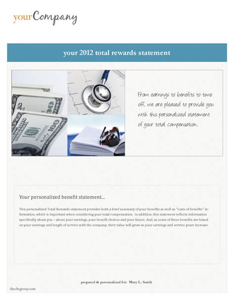 best photos of total compensation summary template total