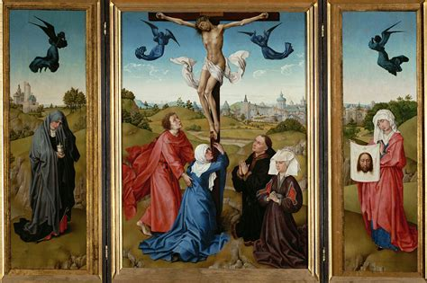 file rogier van der weyden triptych the crucifixion