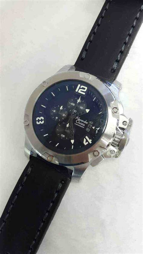 Jam Tangan Alexandre Christie Leather jual alexandre christie ac 6295mc white steel black