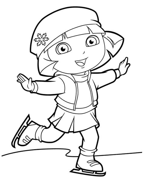 dora winter coloring pages dora coloring lots of dora coloring pages and printables