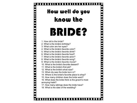 black and white printable bridal shower games modern black and white bridal shower games magical printable