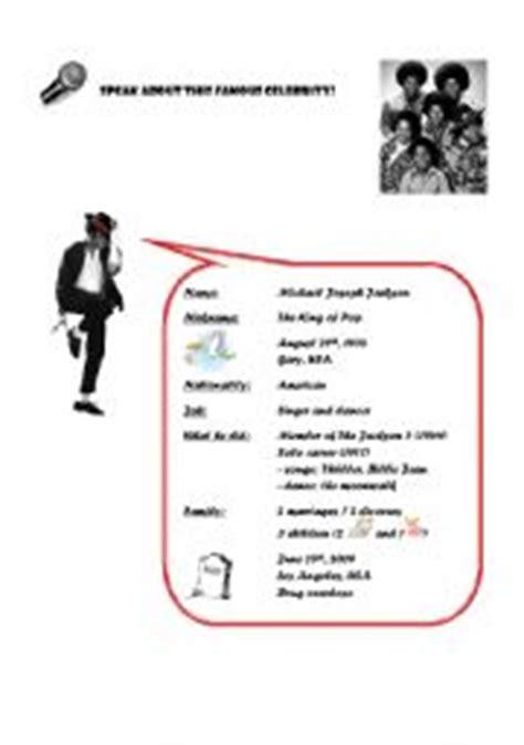 michael jackson biography for elementary students english teaching worksheets michael jackson