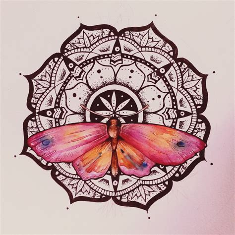 watercolor tattoo design dotwork mandala butterfly watercolor by elenoosh on deviantart