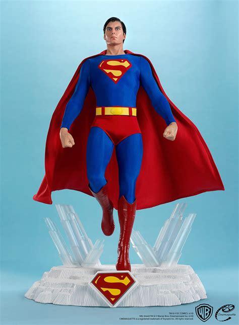 christopher reeve krypto statue christopher reeve superman maquette geekalerts