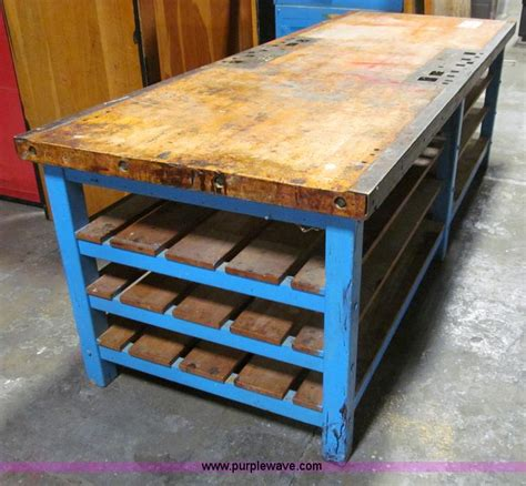 sheet metal bench sheet metal table work bench no reserve auction on tuesday april 09 2013