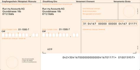 Word Vorlage Einzahlungsschein Vorgedruckte Oder Selbstgedruckte Einzahlungsscheine Run My Accounts