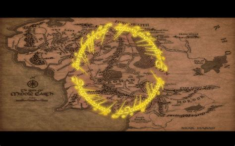 earth ring wallpaper map of middle earth wallpapers wallpaper cave