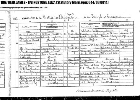 Glasgow Birth Records Free Descendants Of Matthew Gardner Margaret Martin