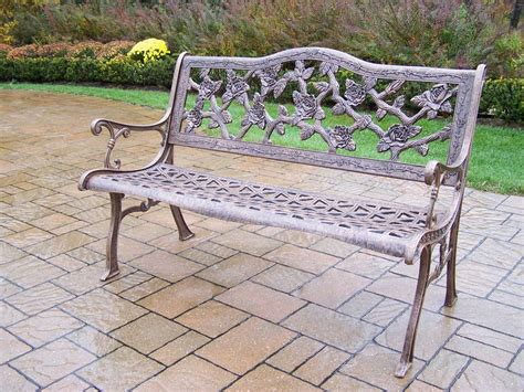 bench bar oakland oakland living english rose cast aluminum bench in antique